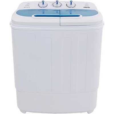 ROVSUN Portable Washing Machine 13.14LBS Capacity with Twin Tub