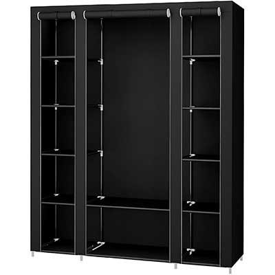 SONGMICS 59'' Portable Wardrobe Storage Organizer