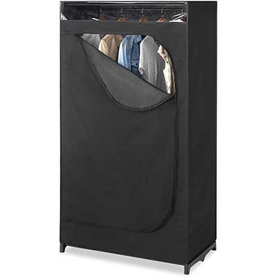 Whitmor Portable Wardrobe with Hanging Rack