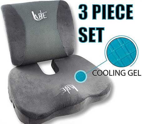 U-Are Cool Gel Memory Foam Seat Cushion, 3 Set