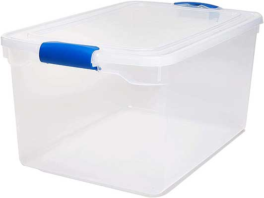 Homz Plastic Storage, Modular Stackable Storage Bin