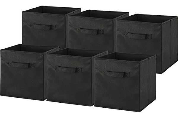 6 Pack – Simple Houseware Foldable Cube Storage Bin