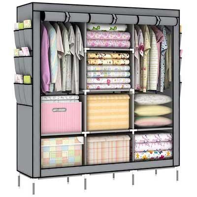 OUMYJIA 69'' Portable Clothes Closet Wardrobe