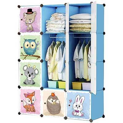 KOUSI Kids Dresser Portable Closet Wardrobe
