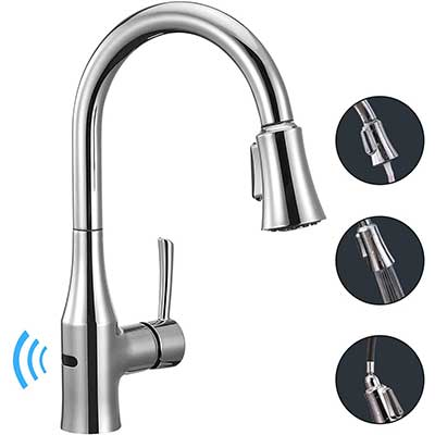 ANZA Touchless Wave Sensor Kitchen Sink Faucet with Pull Down