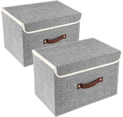 TYEERDEC Foldable Storage Bins 2 Pack Storage Boxes