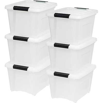 IRIS USA TB-17 19 Quart Stack and Pull Box