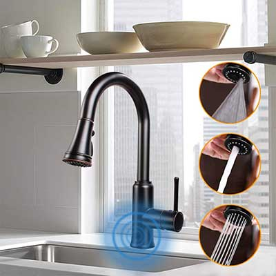 Touchless Kitchen Sink Faucet with Pull Down Sprayer