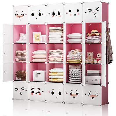 YOZO Portable Children Dresser Modular Closet Organizer