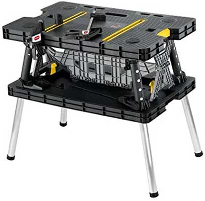 Keter Folding Table Work Bench for Miter Saw