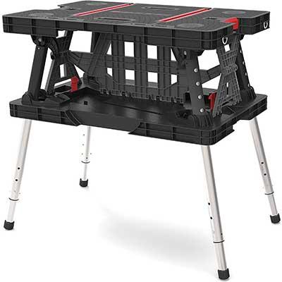 Keter Folding Compact Adjustable Workbench