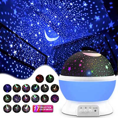 MOKOQI Star and Moon Projector Night Lights for Kids
