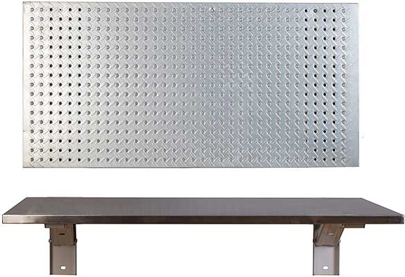 The Quick Bench Stainless Steel Folding Wall Mounted Workbench