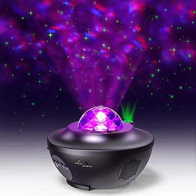 EURPMASK 2 in 1 Ocean Wave Starry LED Light Projector
