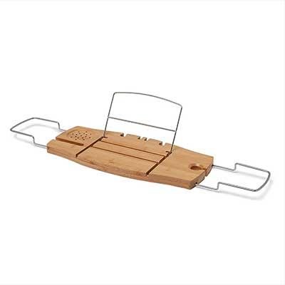 Umbra Aquala Bathtub Tray Extendable, Bamboo