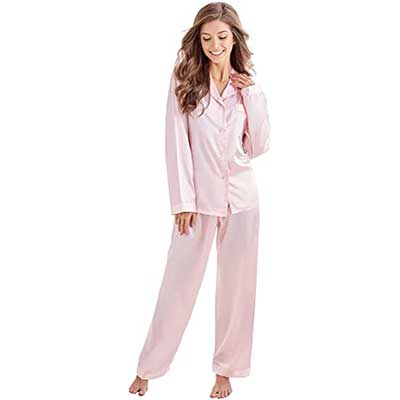 TONY AND CANDICE Women's Classic Satin Pajama Set Sleepwear