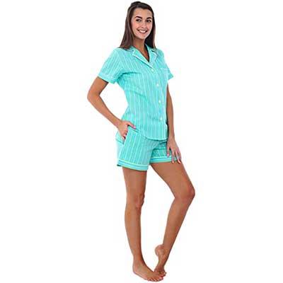 Alexander Del Rossa Women's Button Down Pajama Set