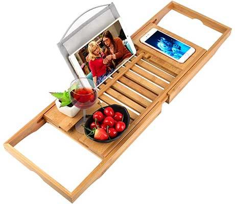 oobest Bathtub Tray Bamboo Caddy Tray