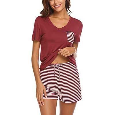 Hotouch V-neck Short Sleeve Shorts Sleepwear Pj Sets