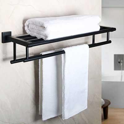 Alise GZ8000-B Lavatory Towel Rack Towel Shelf