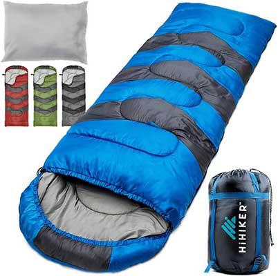HiHiker Camping Sleeping Bag + Travel Pillow