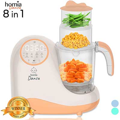 Homia Mills and Steamer 8 in 1 Toddler Food Processor