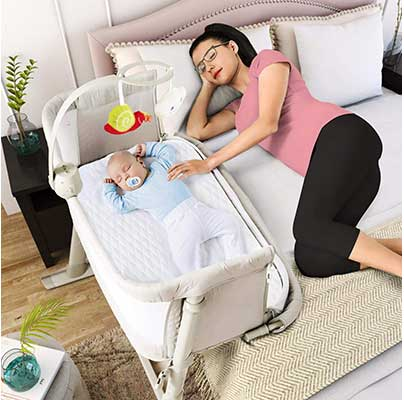 Baby Bassinet – Adjustable and Easy to Assemble Bassinet for Baby