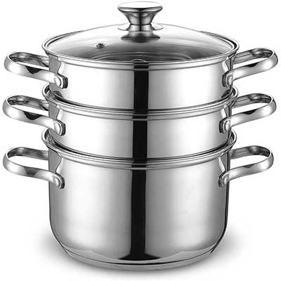 Cook N Home 4Qt Double Boiler Steamer
