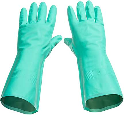 Tusko Products Best Nitrile Rubber Cleaning Gloves