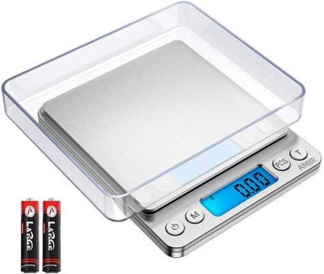 AMIR Digital Kitchen Scale Upgraded 500g