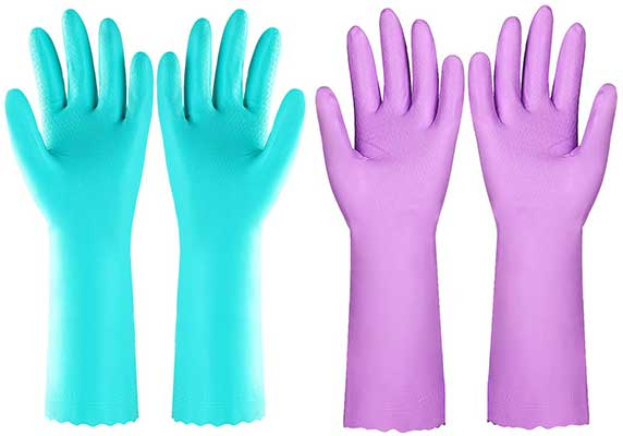 Reusable Kitchen Cleaning Gloves with Latex-Free