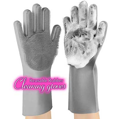 anzoe Reusable Silicone Dishwashing Gloves