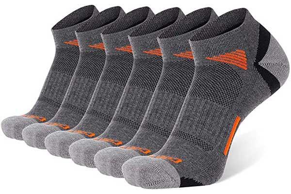 COOVAN Men's Ankle Athletic Socks Low Cut