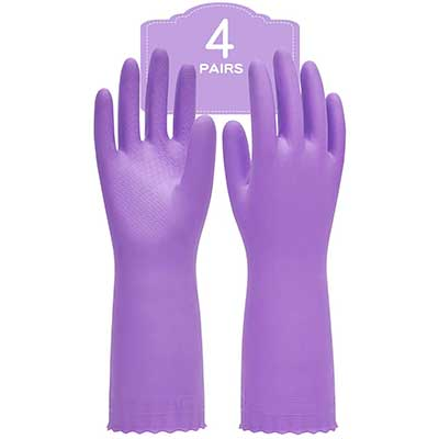 Pacific PPE 4Pairs Household Glove Reusable Cleaning Dishwashing Gloves