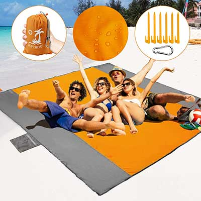 POPCHOSE Sandfree Beach Pocket Picnic Mat