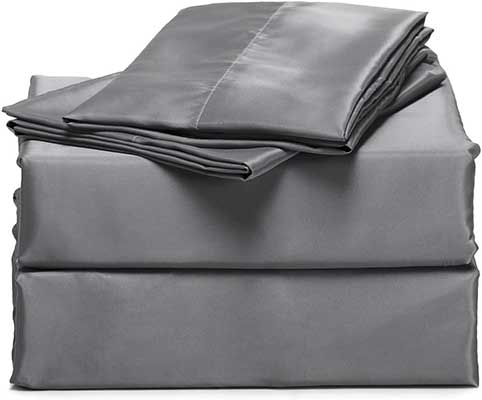 BedSure 4-Pieces Satin Bed Sheets