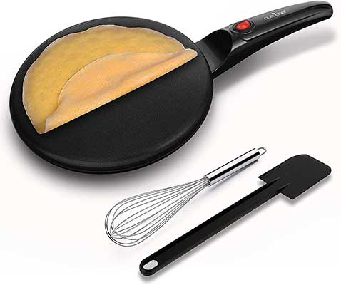 NutriChef Electric Griddle Crepe Maker Cooktop