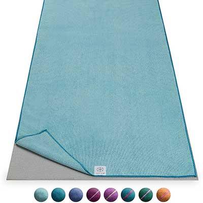 Gaiam Yoga Mat Towel Microfiber Mat-Sized Yoga Towel