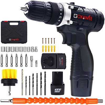 Cordless Drill with Two Batteries – GOXAWEE
