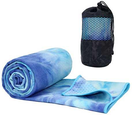 ATIVAFIT Non-Slip Yoga Towel, Super Soft, Absorbent Mat Towel