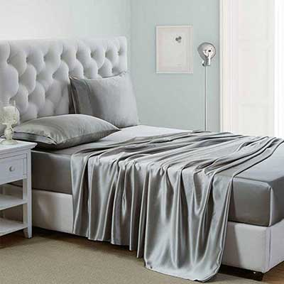 Lanest Housing Silk Satin Sheets