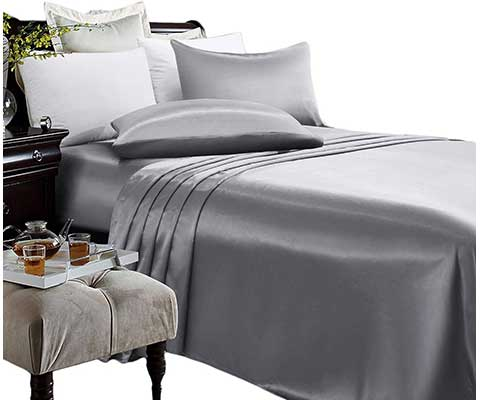 ARTALL Silky Super Soft 3 Piece Deep Pocket Satin Sheet Set