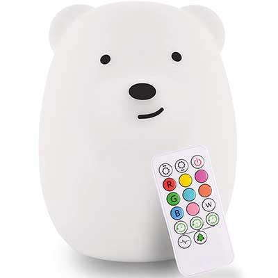 LED Nursery Bear Night Light for Kids LumiPets