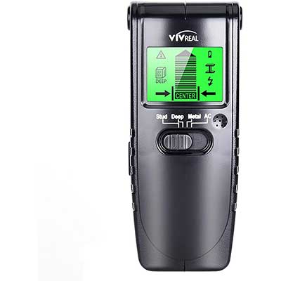 VIVREAL 4 in 1 Electric Wood Detector Wall Scanner with LCD Display