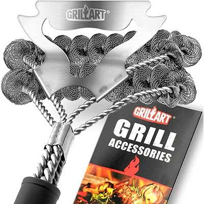 GRILLART Grill Brush Bristle Free & Scraper
