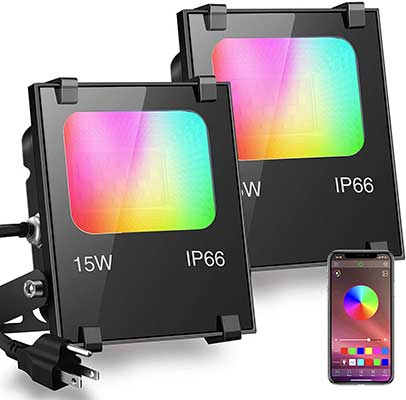 ILC Store RGB Color Changing Outdoor Smart Floodlights