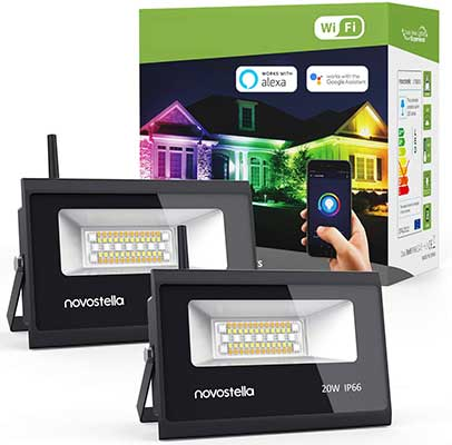 Novostella RGBCW 20W Smart LED Flood Lights with Wi-Fi