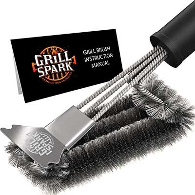 Grill Spark Quick/Easy BBQ Grill Brush and Scraper