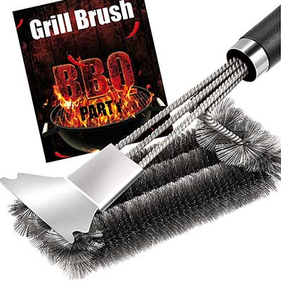 Grill Brush and Scraper – Quick Easy Safe BBQ Brush