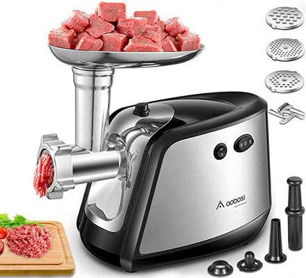 Electric Meat Grinder, Aobosi 3-in-1 Meat Grinder